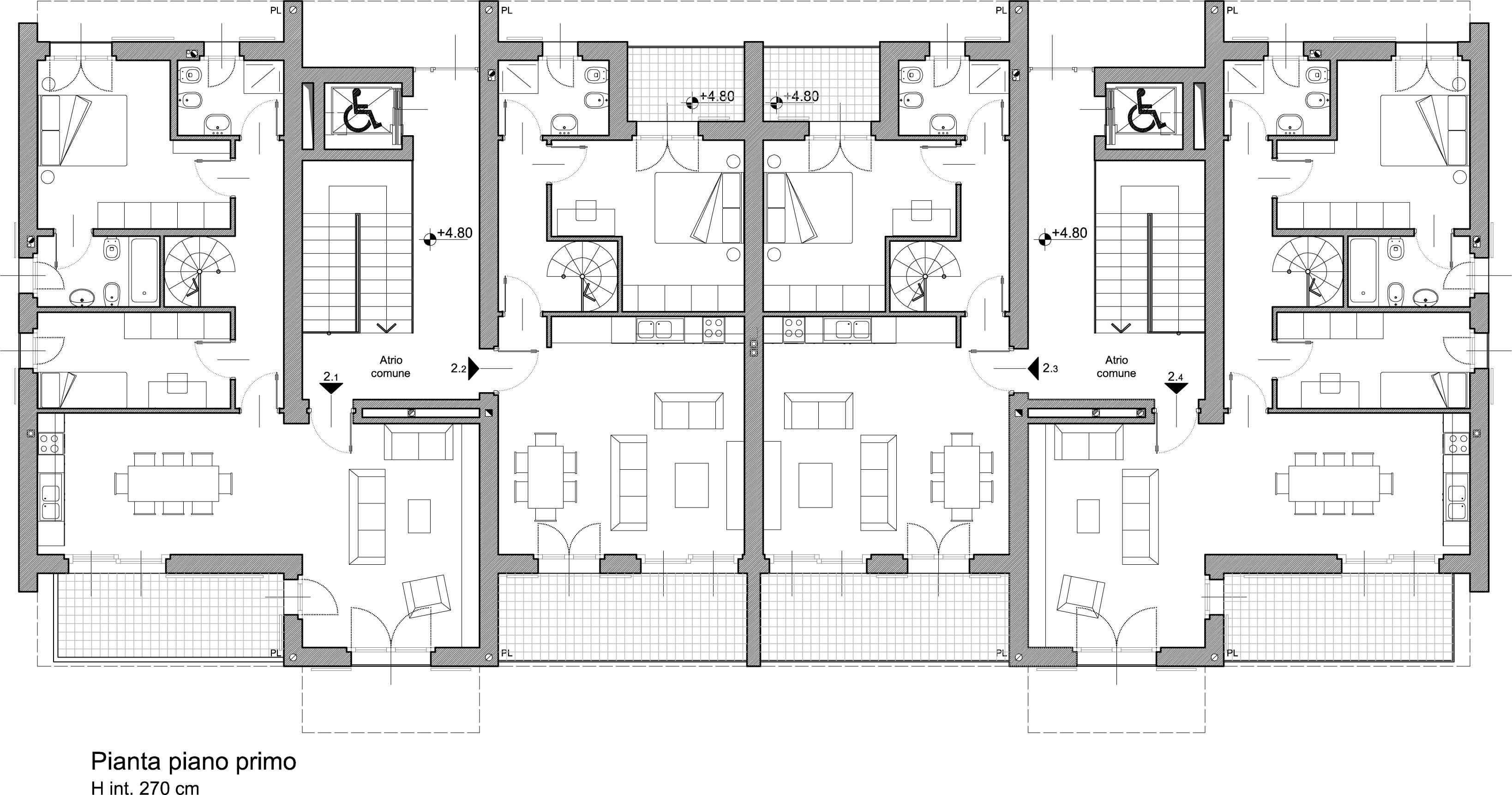 Edificio residenziale a rodano milano arch studio for Lampadari per vani scale