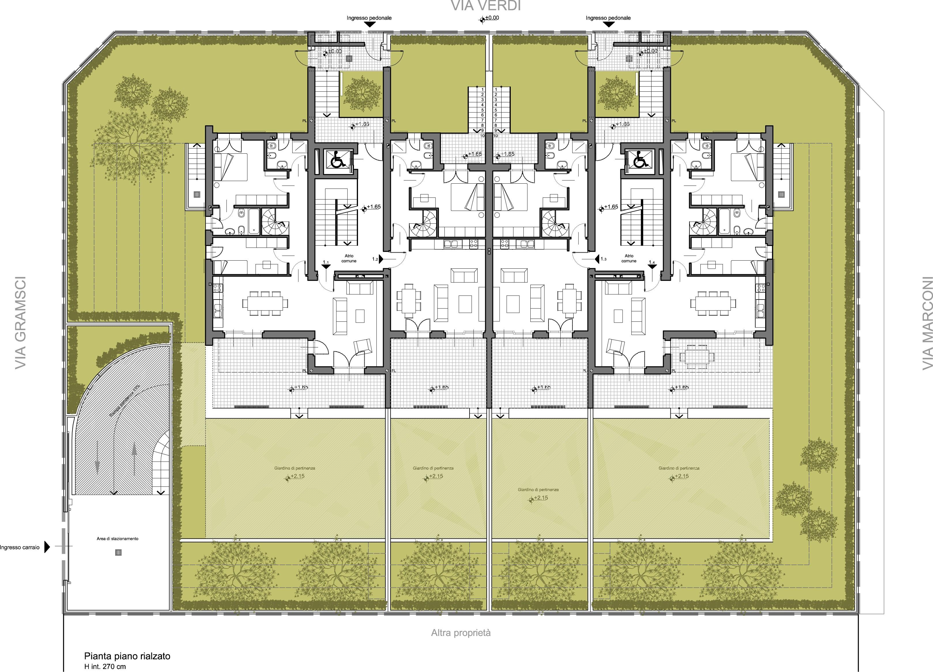 Edificio residenziale a rodano milano arch studio for Piano di costruzione dell edificio